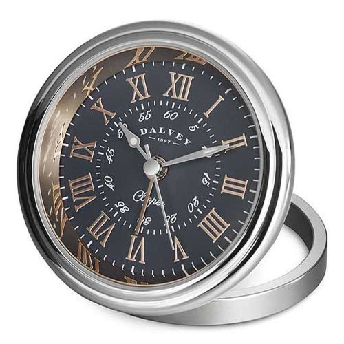 DALVEY CLIPPER CLOCK GREY/ROSE GOLD