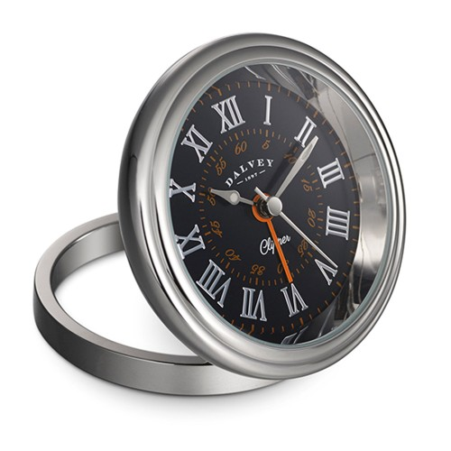 DALVEY CLIPPER CLOCK BLACK/ ORANGE