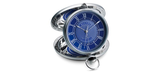 DALVEY OROLOGIO GRAND ODYSSEY CLOCK BLUE