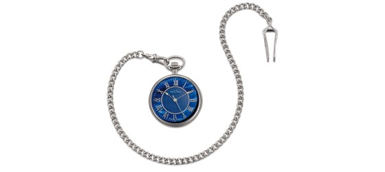 DALVEY OROLOGIO COMPACT OPEN - FACE POCKET WATCHES BLUE