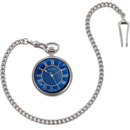 DALVEY OROLOGIO COMPACT OPEN - FACE POCKET WATCHES BLU