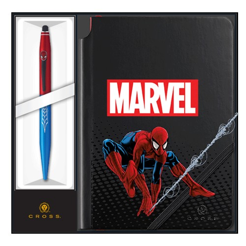 CROSS MARVEL TECH 2 SPIDER - MAN CON BLOCCO NOTES