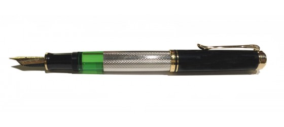 PELIKAN SOUVERAN M730 WITH LAMINATED SILVER FOUNTAIN PEN