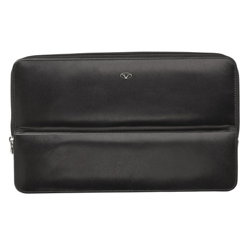 VISCONTI LEATHER CASE BLACK FOR 12 PENS