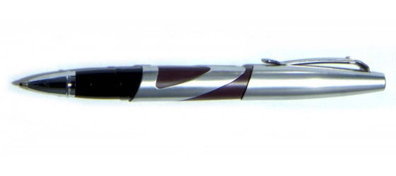 SHEAFFER INTRIGUE ROLLER IN ACCIAIO LUCIDO E MARRONE