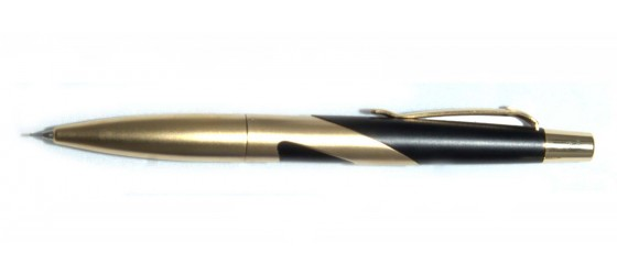 SHEAFFER INTRIGUE PORTAMINE 0,7 MM IN ACCIAIO LAMINATO ORO E NERO