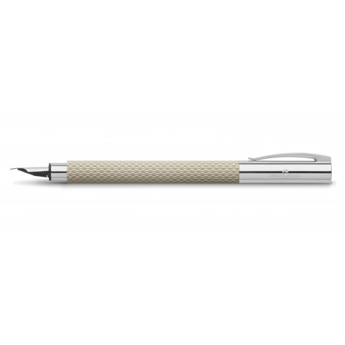 FABER - CASTELL AMBITION OPART WHITE SAND FOUNTAIN PEN