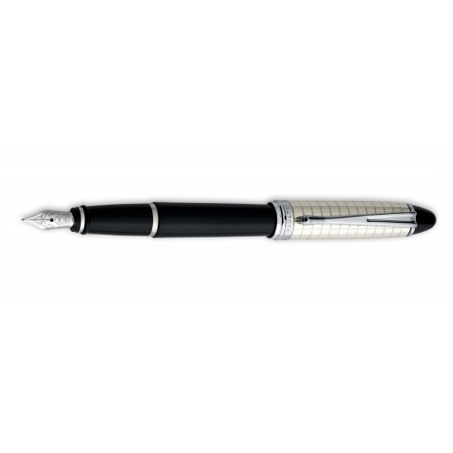 AURORA IPSILON QUADRA FOUNTAIN PEN WITH SILVER CAP