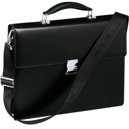 MONTBLANC MEISTERSTÜCK BLACK SINGLE GUSSET BRIEFCASE