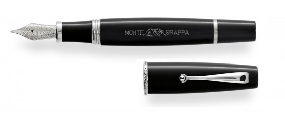 MONTE_GRAPPA DY MONTEGRAPPA BLACK FOUNTAIN PEN FEBRUARY AVAILABLE