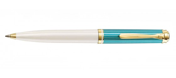 PELIKAN SOUVERAN 600 TURQUOISE - WHITE BALLPOINT PEN AVAILABLE MARCH