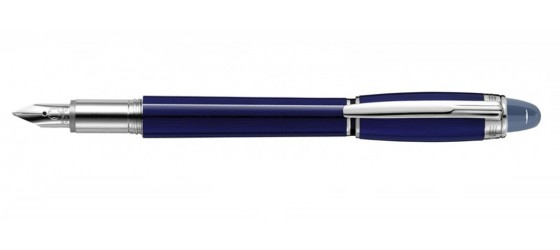 MONTBLANC STARWALKER BLUE FOUNTAIN PEN