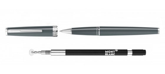MONTBLANC SET WITH PIX GREY ROLLERBALL AND SCREENWRITER REFIL