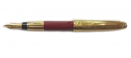 MONTBLANC MEISTERSTÜCK SOLITAIRE CORAL HOMMAGE W.A. MOZART 114 FOUNTAIN PEN (SMALL SIZE)