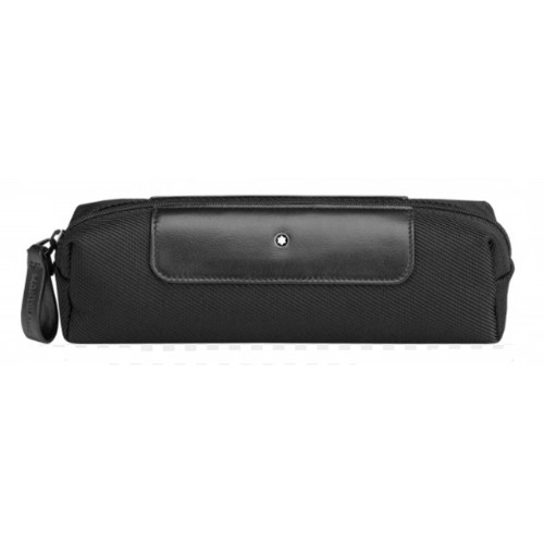 MONTBLANC POUCH ZIP TOP WASH NIGHTFLIGHT BLACK