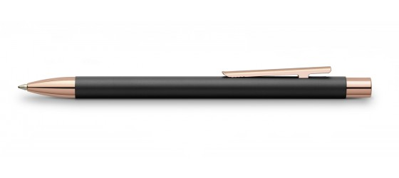 FABER-CASTELL NEO SLIM BLACK ROSE GOLD BALLPOINT PEN