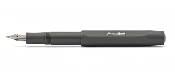 KAWECO CLASSIC SPORT GREY FOUNTAIN PEN