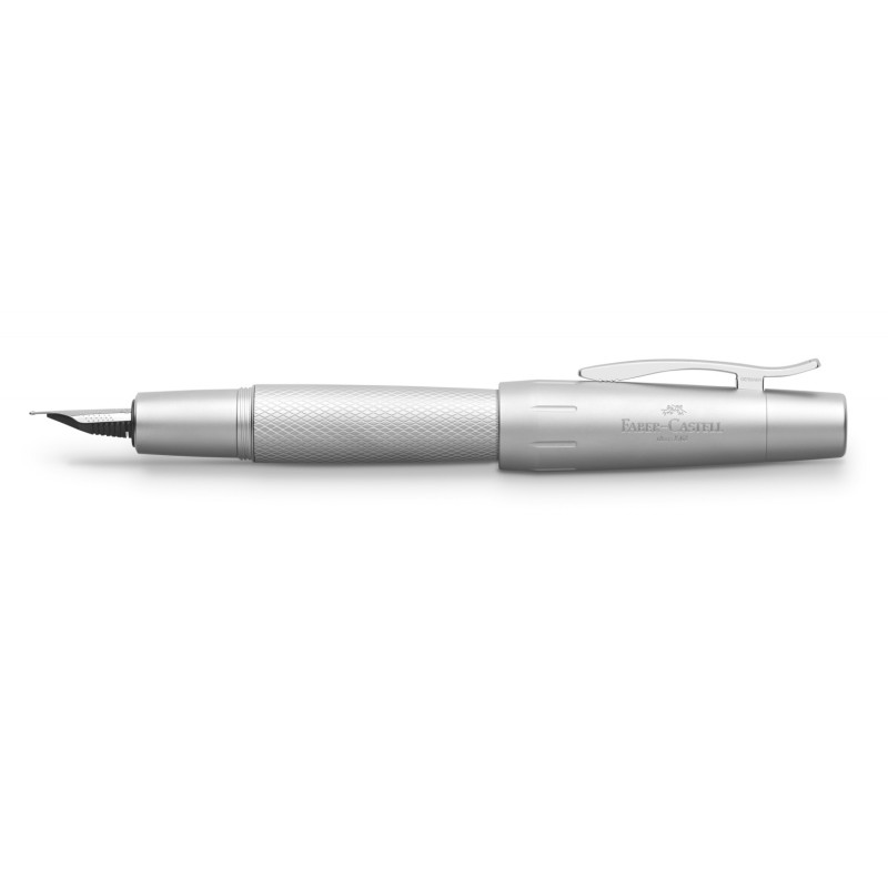 FABER-CASTELL E-MOTION PURE SILVER FOUNTAIN PEN