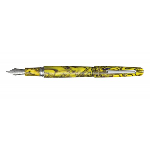 MONTEGRAPPA ELMO 01 FANTASY BLOOMS IRIS YELLOW FOUNTAIN PEN