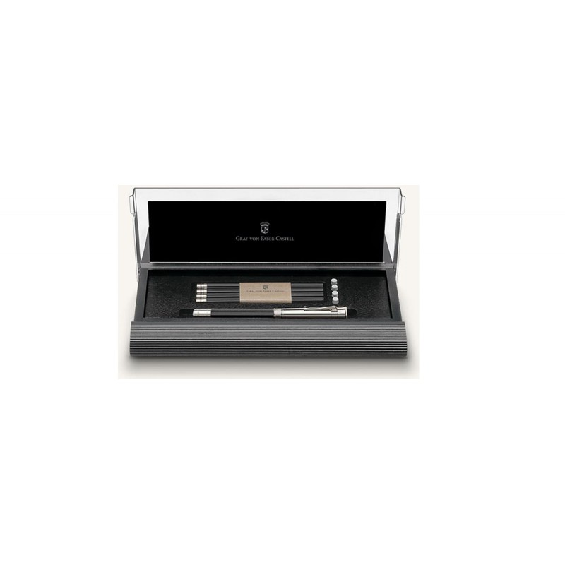 GRAF VON FABER-CASTELL DESK SET WITH PLATINIUM-PLATED PERFECT PENCIL BLACK