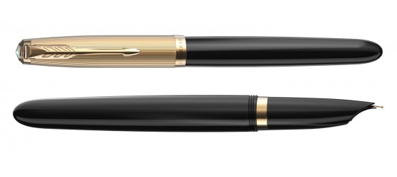 PARKER 51 DELUXE BLACK GT FOUNTAIN PEN AVAILABLE FROM OCTOBER
