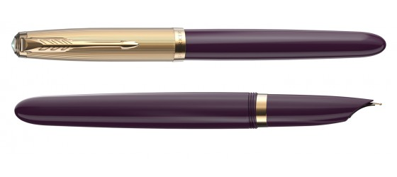 PARKER 51 DELUXE PLUM GT FOUNTAIN PEN AVAILABLE FROM OCTOBER
