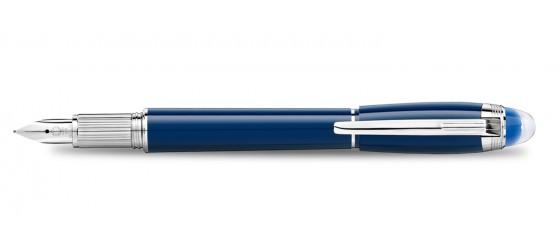 MONTBLANC STARWALKER BLUE PLANET PRECIOUS RESIN FOUNTAIN PEN