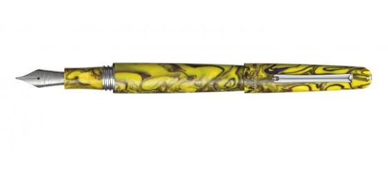 MONTEGRAPPA ELMO 01 FANTASY BLOOMS IRIS YELLOW FOUNTAIN PEN COMING SOON