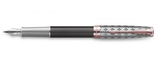 PARKER SONNET METAL AND GREY PGT FOUNTAIN PEN COMING SOON