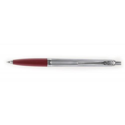 BALLOGRAF EPOCA CHROME BORDEAUX BALLPOINT PEN