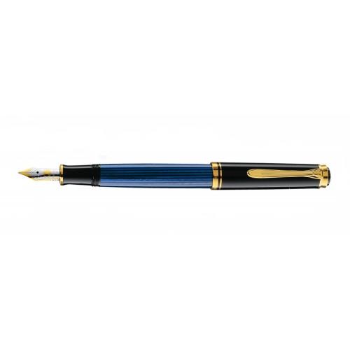 PELIKAN SOUVERAN M400 BLACK-BLUE FOUNTAIN PEN