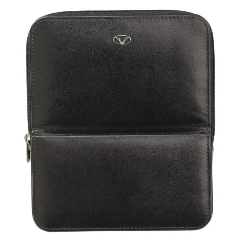 VISCONTI LEATHER CASE BLACK FOR 6 PENS