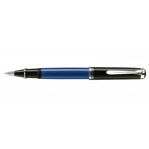 PELIKAN SOUVERAN M805 BLACK-BLUE-SILVER ROLLERBALL